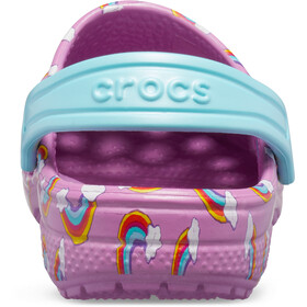 Crocs Classic Seasonal Graphic Clogsit Lapset, violet